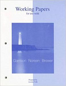 WORKING PAPERS FOR USE WITH